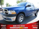2011 Deep Water Blue Pearl Dodge Ram 1500 ST Quad Cab #49514701