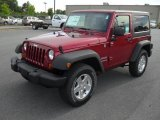 2011 Deep Cherry Red Crystal Pearl Jeep Wrangler Sport S 4x4 #49566338