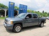 2011 Blue Granite Metallic Chevrolet Silverado 1500 LS Crew Cab 4x4 #49565802