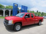 2011 Victory Red Chevrolet Silverado 1500 Extended Cab 4x4 #49565803