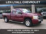 2009 Deep Ruby Red Metallic Chevrolet Silverado 1500 LT Extended Cab 4x4 #49565846