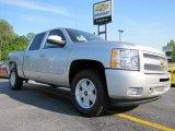 2011 Sheer Silver Metallic Chevrolet Silverado 1500 LT Crew Cab #49566020