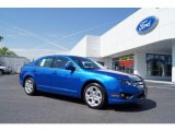 2011 Blue Flame Metallic Ford Fusion SE #49565868