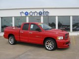 2005 Flame Red Dodge Ram 1500 SRT-10 Quad Cab #49565876