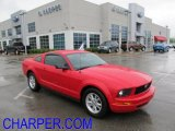 2007 Torch Red Ford Mustang V6 Deluxe Coupe #49565690