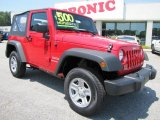2011 Flame Red Jeep Wrangler Sport 4x4 #49565909