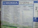 2011 Honda CR-V EX-L Window Sticker