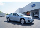 2011 Light Ice Blue Metallic Ford Fusion Hybrid #49629707