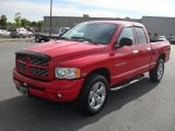 2005 Flame Red Dodge Ram 1500 SLT Quad Cab 4x4 #49629897