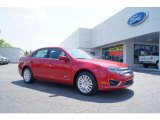 2011 Red Candy Metallic Ford Fusion Hybrid #49629708