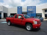 2011 Victory Red Chevrolet Silverado 1500 LT Extended Cab 4x4 #49629744