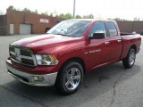2011 Deep Cherry Red Crystal Pearl Dodge Ram 1500 Big Horn Quad Cab #49650926