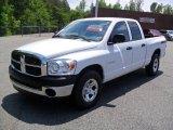 2008 Bright White Dodge Ram 1500 SXT Quad Cab #49650930