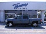 2007 Blue Granite Metallic Chevrolet Silverado 1500 LT Z71 Crew Cab 4x4 #49657263