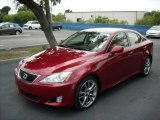 2008 Matador Red Mica Lexus IS 250 #49694923