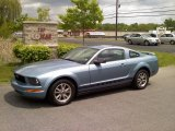 2005 Windveil Blue Metallic Ford Mustang V6 Deluxe Coupe #49695142