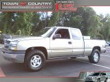 2003 Light Pewter Metallic Chevrolet Silverado 1500 LS Extended Cab 4x4 #49695310