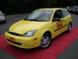 Screaming Yellow Ford Focus in 2003