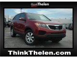 2011 Spicy Red Kia Sorento LX #49695479