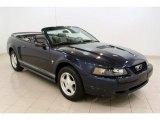 2001 True Blue Metallic Ford Mustang V6 Convertible #49695337