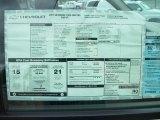 2011 Chevrolet Silverado 1500 Regular Cab 4x4 Window Sticker