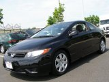 2007 Nighthawk Black Pearl Honda Civic LX Coupe #49695499