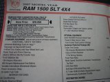 2007 Dodge Ram 1500 SLT Regular Cab 4x4 Window Sticker