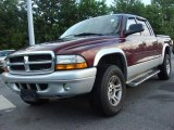 2003 Dark Garnet Red Pearl Dodge Dakota SLT Quad Cab 4x4 #49694890