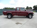 Dark Toreador Red Metallic Ford F150 in 1997