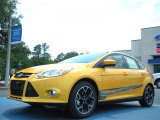 2012 Yellow Blaze Tricoat Metallic Ford Focus SE Sport 5-Door #49748140