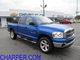 2007 Electric Blue Pearl Dodge Ram 1500 Big Horn Edition Quad Cab 4x4 #49748657