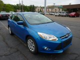 2012 Blue Candy Metallic Ford Focus SE Sedan #49748194