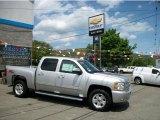 2011 Sheer Silver Metallic Chevrolet Silverado 1500 LT Crew Cab 4x4 #49748063