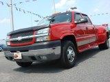 2003 Victory Red Chevrolet Silverado 3500 LT Crew Cab 4x4 Dually #49748067