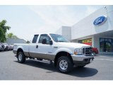 2004 Oxford White Ford F250 Super Duty Lariat SuperCab 4x4 #49748232
