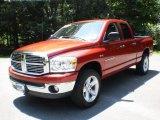 2007 Inferno Red Crystal Pearl Dodge Ram 1500 Big Horn Edition Quad Cab 4x4 #49748512