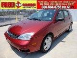 2005 Sangria Red Metallic Ford Focus ZX5 SES Hatchback #49748550