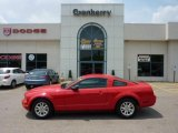 2007 Torch Red Ford Mustang V6 Deluxe Coupe #49799086