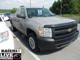 2008 Silver Birch Metallic Chevrolet Silverado 1500 Work Truck Extended Cab 4x4 #49798946