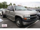 2002 Light Pewter Metallic Chevrolet Silverado 3500 LT Crew Cab 4x4 Dually #49798950