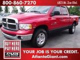 2004 Flame Red Dodge Ram 1500 SLT Quad Cab 4x4 #49799688