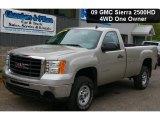 2009 Silver Birch Metallic GMC Sierra 2500HD Work Truck Regular Cab 4x4 #49799180