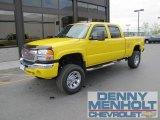 2007 Fleet Yellow GMC Sierra 2500HD Classic SLT Crew Cab 4x4 #49799501