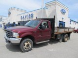 2004 Dark Toreador Red Metallic Ford F450 Super Duty XL Regular Cab 4x4 Chassis Stake Truck #49856208