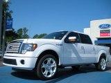 2011 White Platinum Metallic Tri-Coat Ford F150 Lariat SuperCrew #49856107