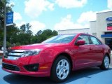2011 Red Candy Metallic Ford Fusion SE #49856110