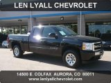 2010 Black Chevrolet Silverado 1500 LS Extended Cab 4x4 #49856125