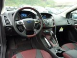 2012 Ford Focus SEL 5-Door Tuscany Red Leather Interior