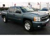 2008 Blue Granite Metallic Chevrolet Silverado 1500 LT Crew Cab 4x4 #49904997
