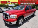 2006 Flame Red Dodge Ram 1500 SLT Quad Cab #49905164
